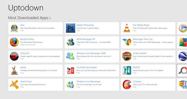 Uptodown app Uptodown now has an app for Windows 8