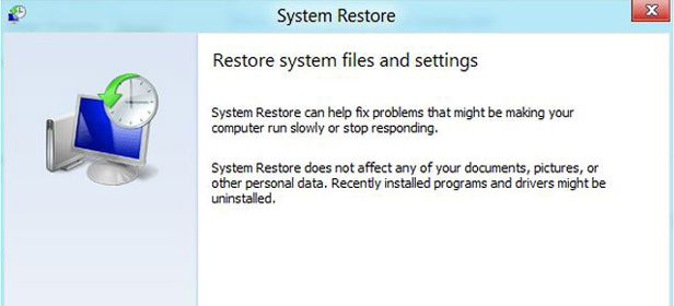 Recover System settings