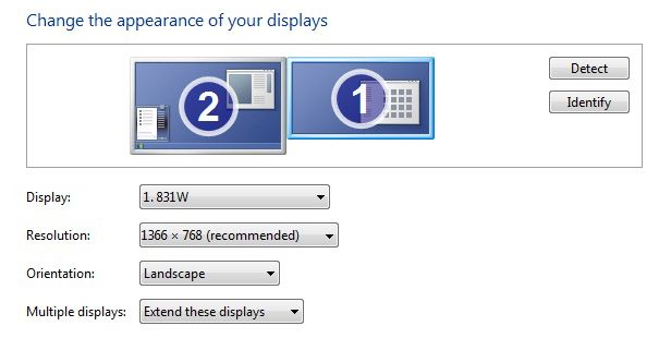 Screen resolution windows