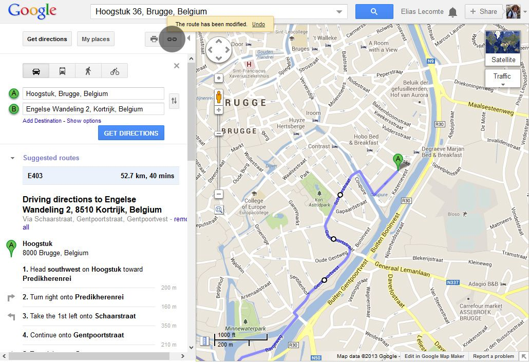 Share-route-google-maps