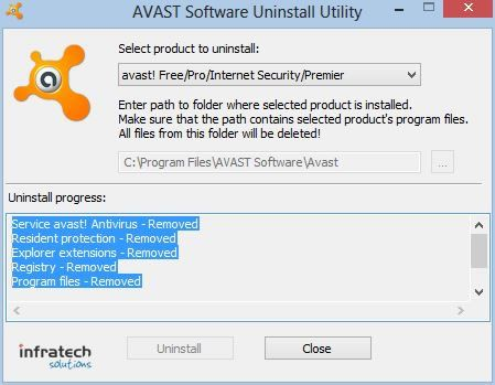Uninstall-Avast