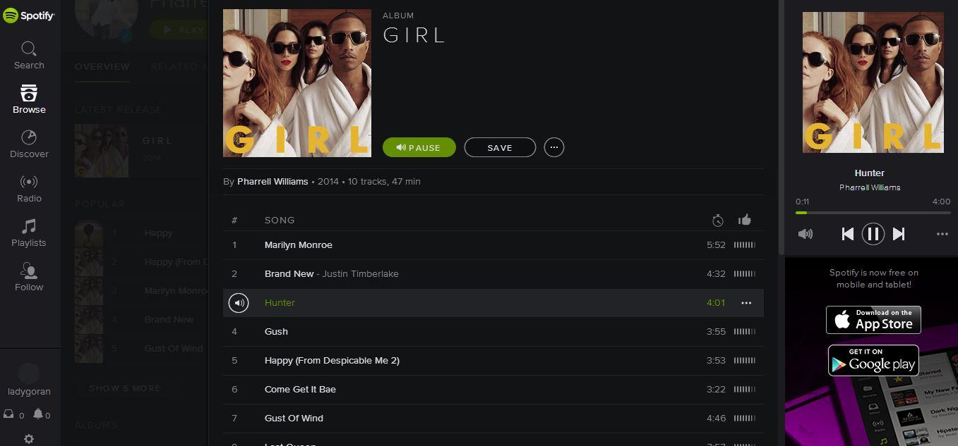 Spotify web client