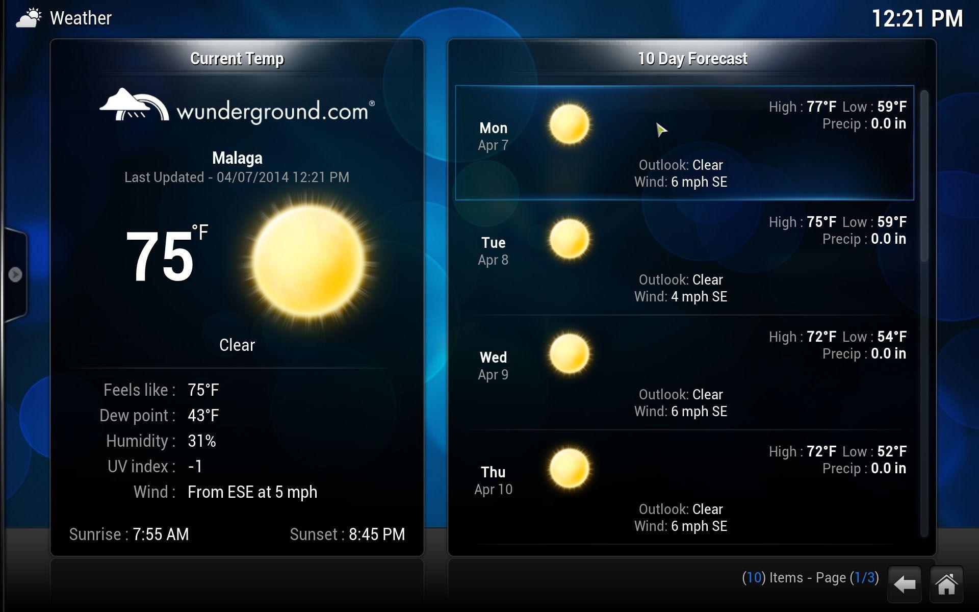 XBMC-Weather-EN