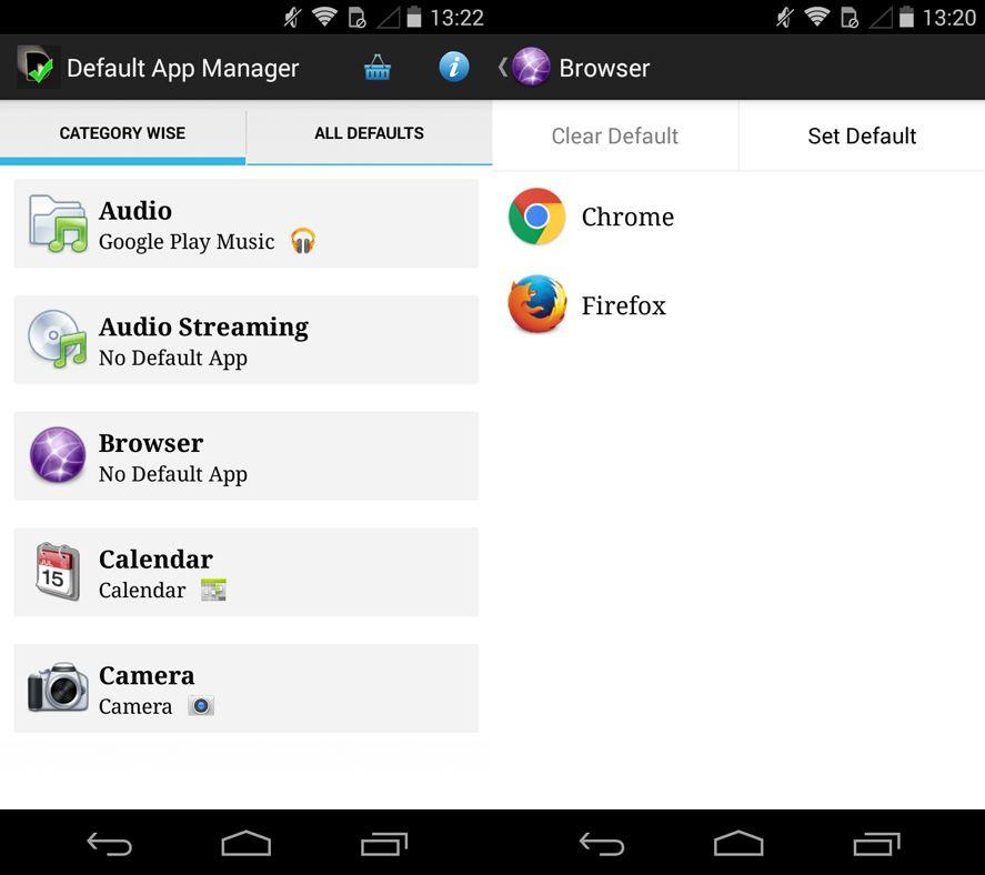 Default App en