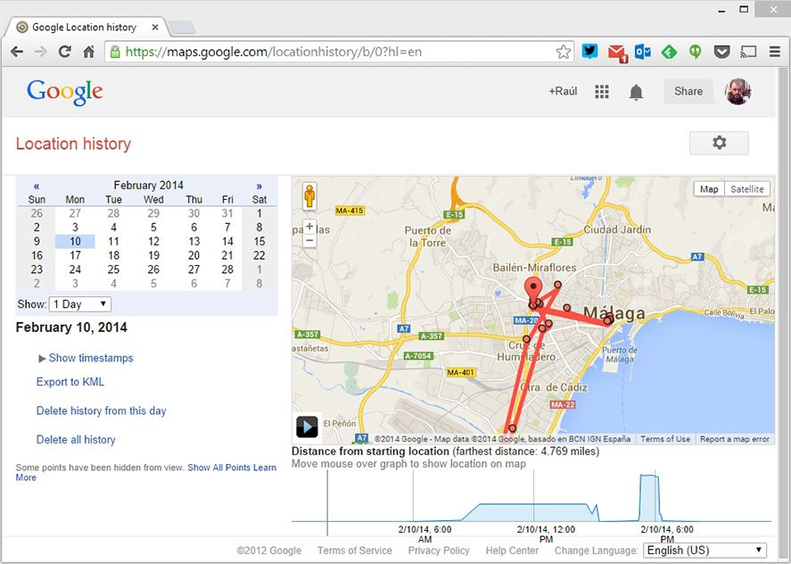 Google Stores Your Location History For Years - Google map location history