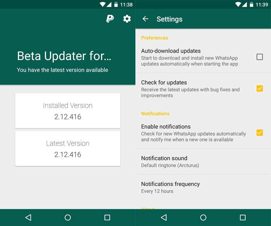beta-updater-whatsapp