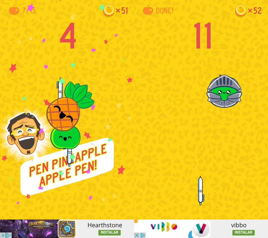 Pineapple Pen screenshot Five Android games based on viral videos