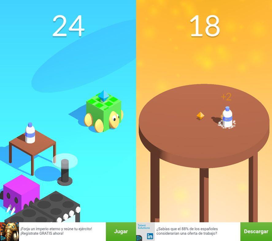 bottle flip screenshot Five Android games based on viral videos