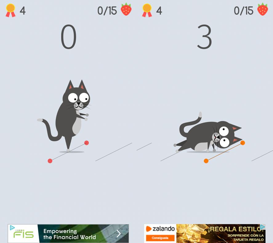 the walking pet screenshot Five Android games based on viral videos