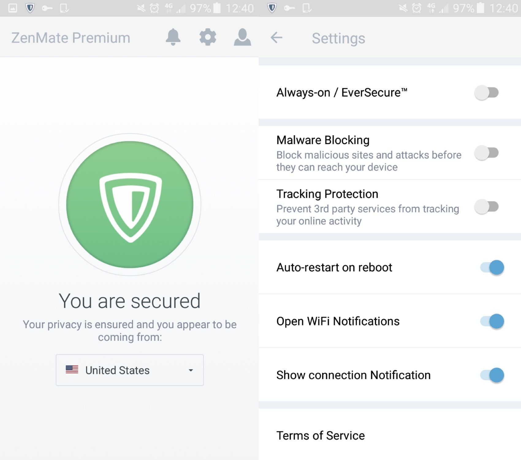 zenmate screen shot ZenMate: A brilliant VPN that protects your privacy