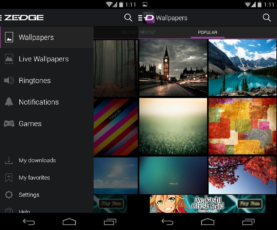 À La Carte Ringtones And Wallpapers For Android From Zedge