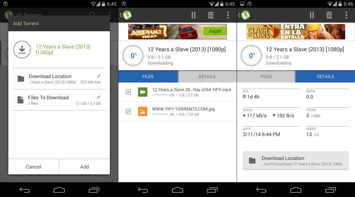 BitTorrent and uTorrent for Android now completely revamped