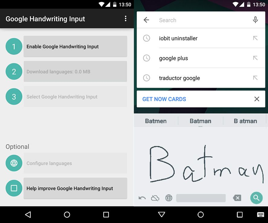 google releases its handwriting input app for android. Black Bedroom Furniture Sets. Home Design Ideas