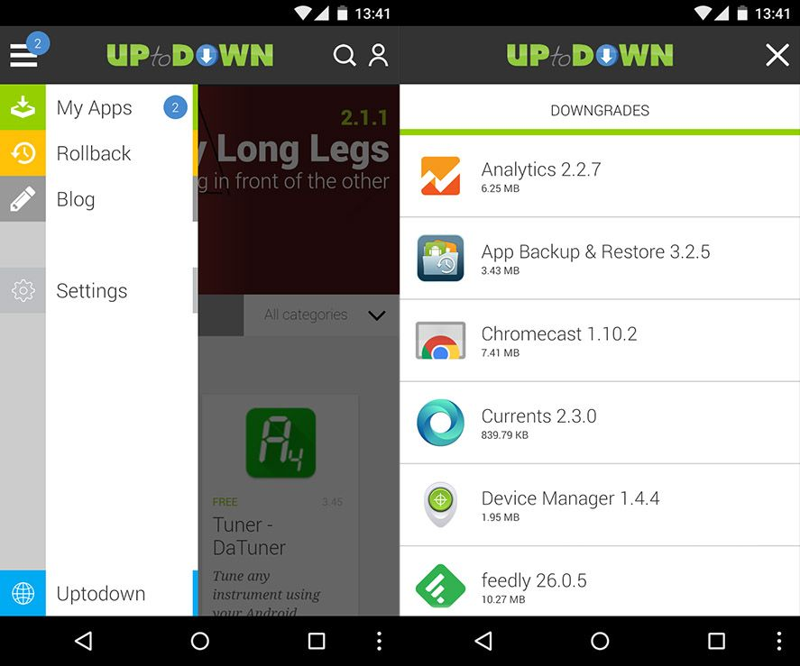 How to roll back to a previous version of an Android app