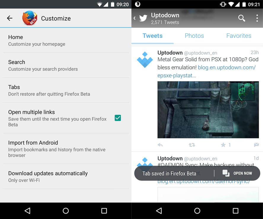 Firefox on Android lets you load pages in the background