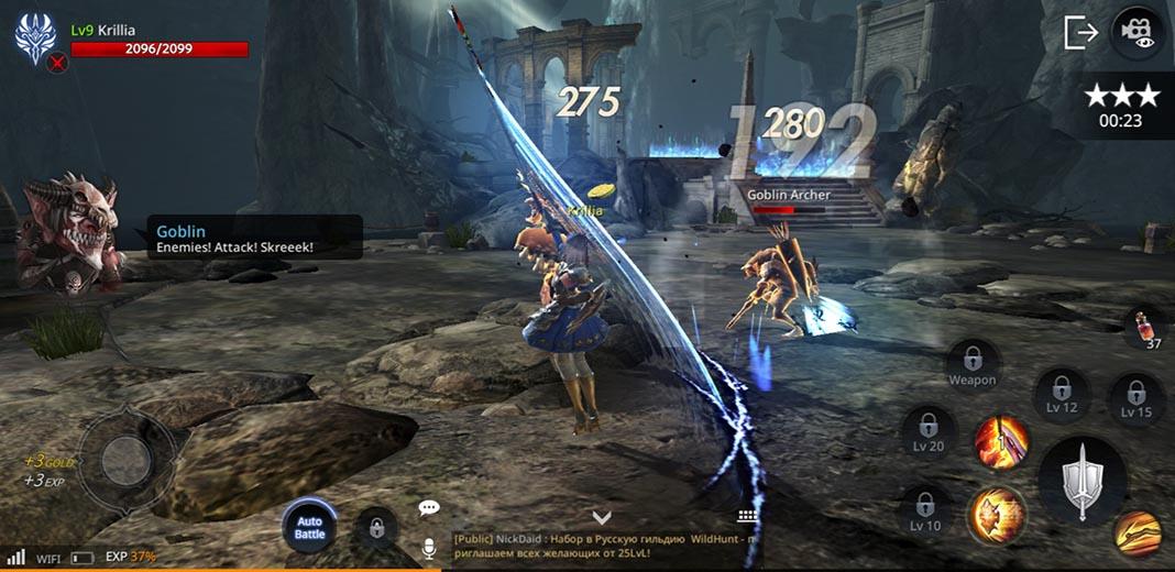 AxE screenshot best MMORPG Android