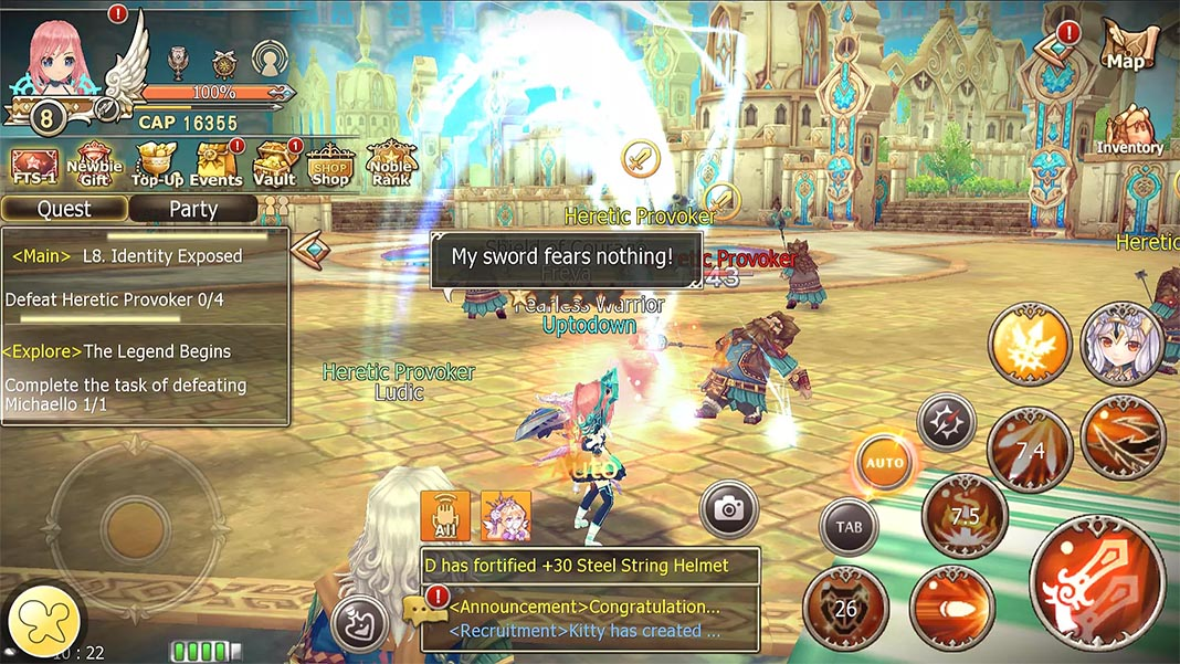 Crown Four Kingdoms screenshot best MMORPG Android