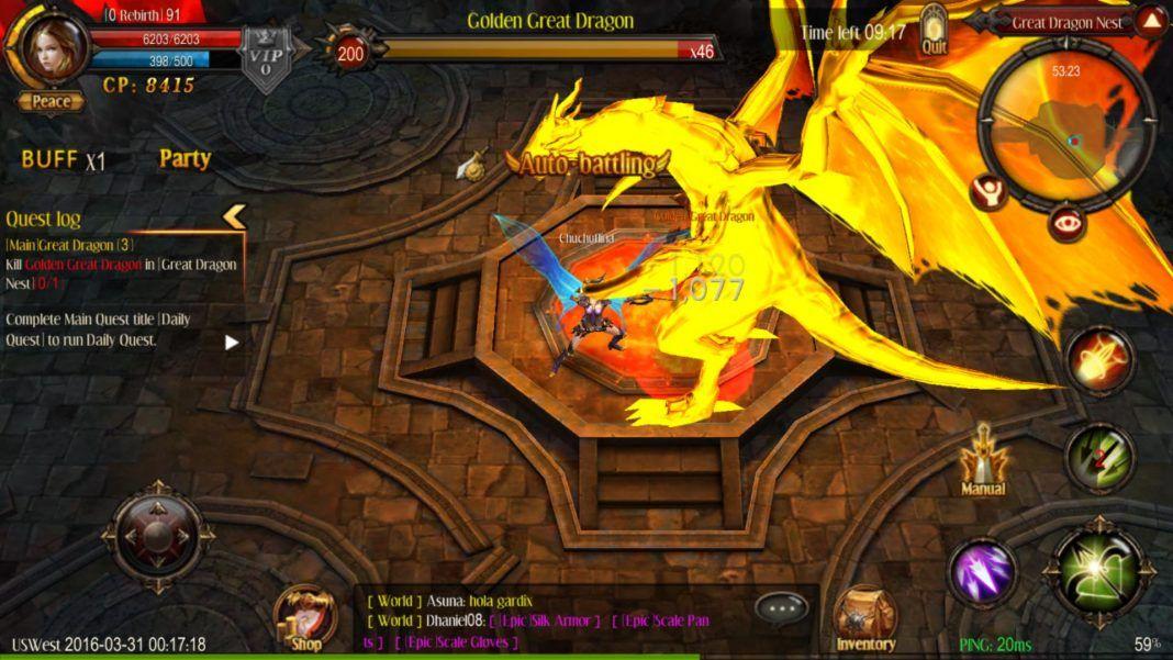 MU Origin screenshot best MMORPG Android