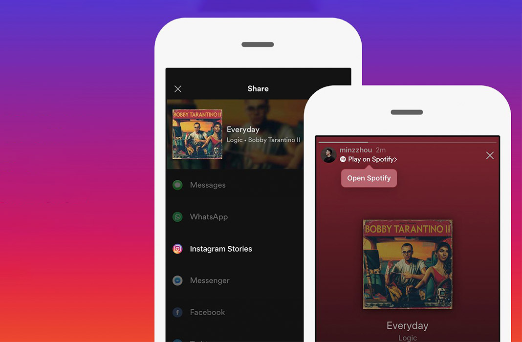How to share Spotify music in Instagram Stories
