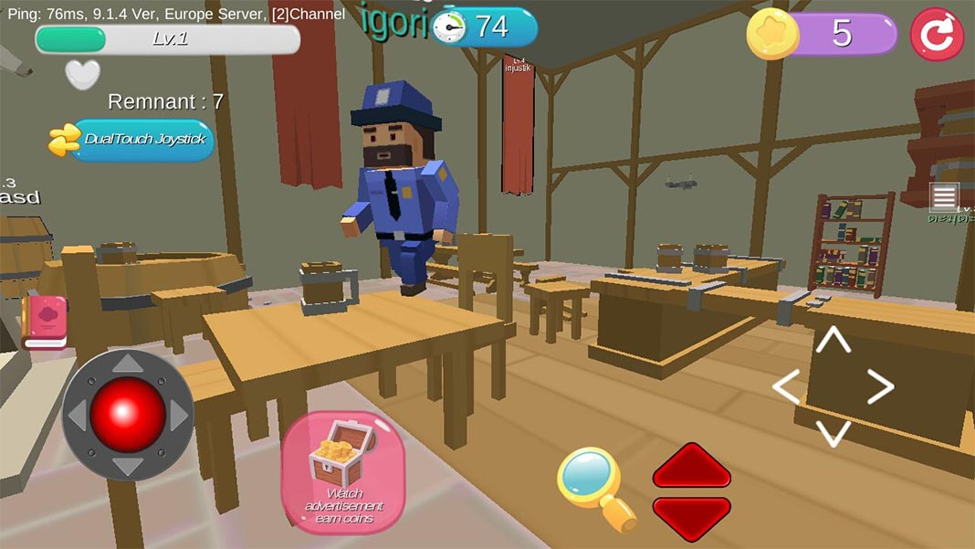 hide io screenshot Prop Hunt for Android: show off your camouflage skills in these wacky games
