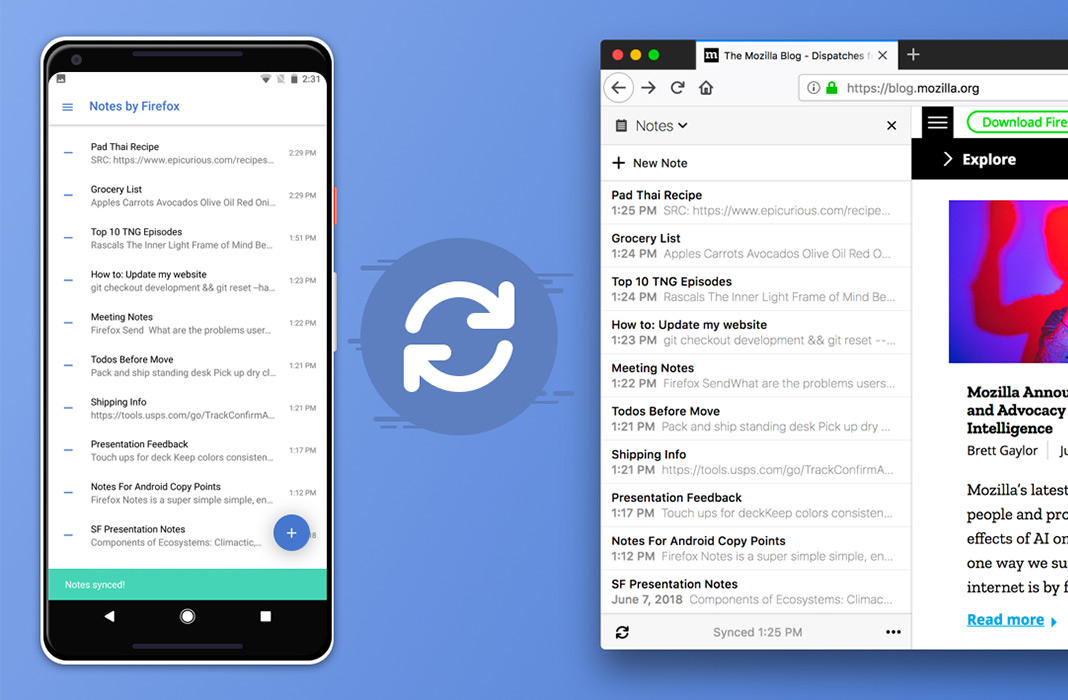 Firefox now offers its own new app for taking notes