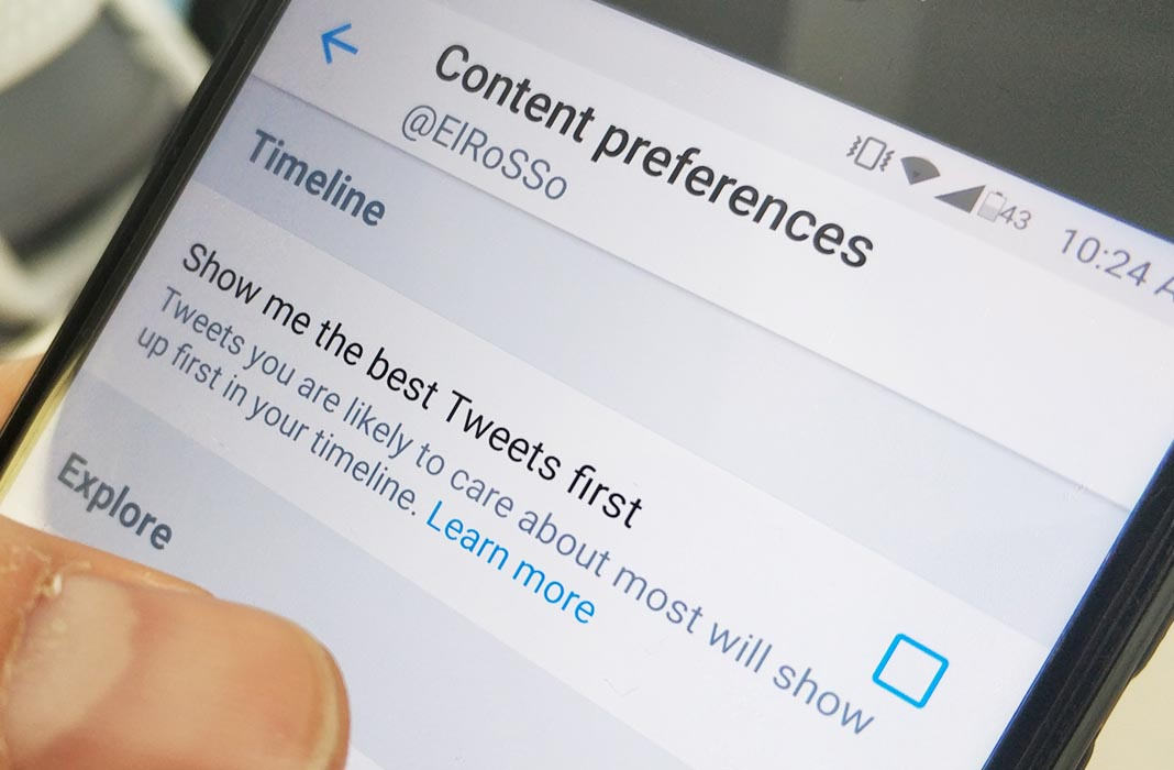 twitter tuits primero screenshot How to get back the chronological timeline on Twitter