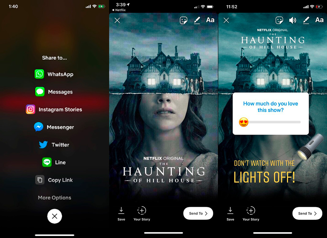 netflix instagram stories en Netflix will offer new option to share shows and movies in your Instagram Stories