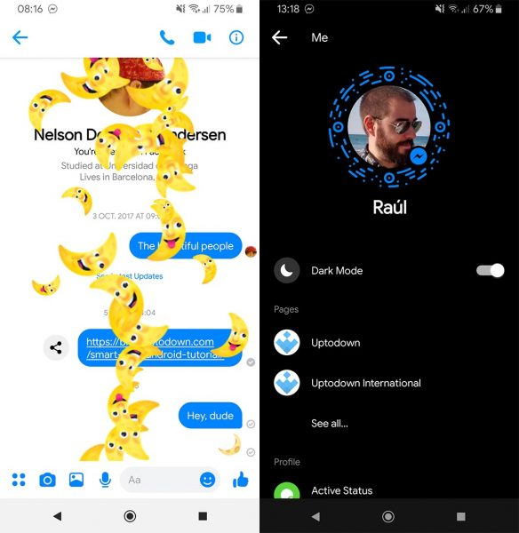 facebook dark mode screenshots 1 How to activate night mode in your favorite Android apps
