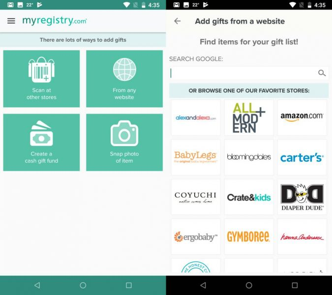 Myregistry blog Five awesome free Android apps for soon-to-be moms