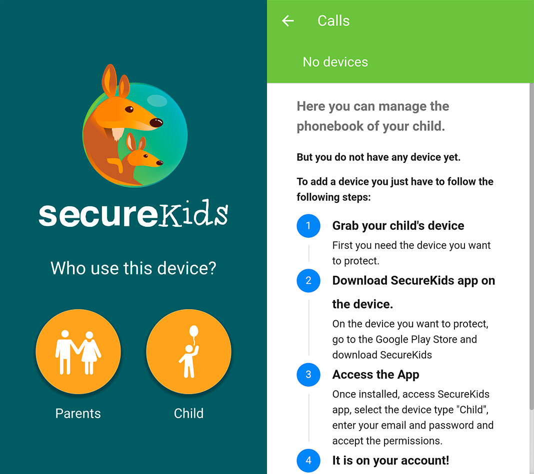 Parental Control Secure Kids app