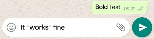 WhatsApp Format Bold