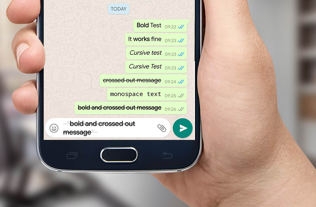 How to format your WhatsApp messages