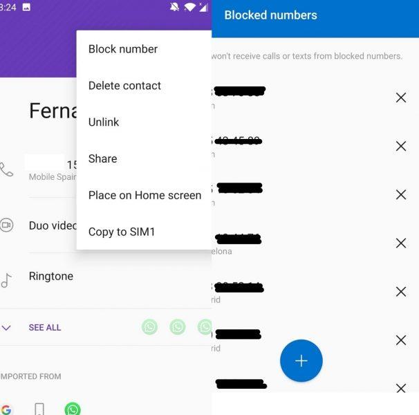 Block spam calls - EN