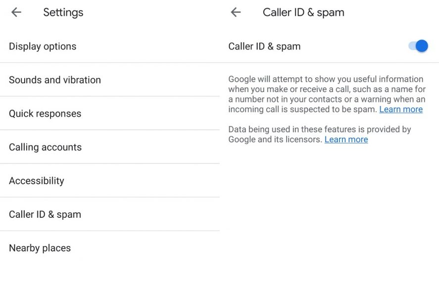 Google Phone SPAM - EN