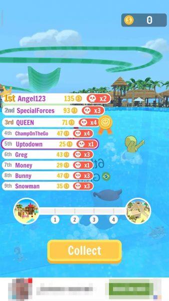 Aquapark IO scoreboard