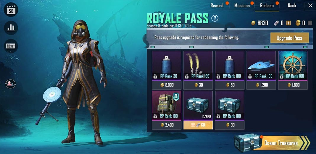 Royale Pass PUBG Mobile Season 8