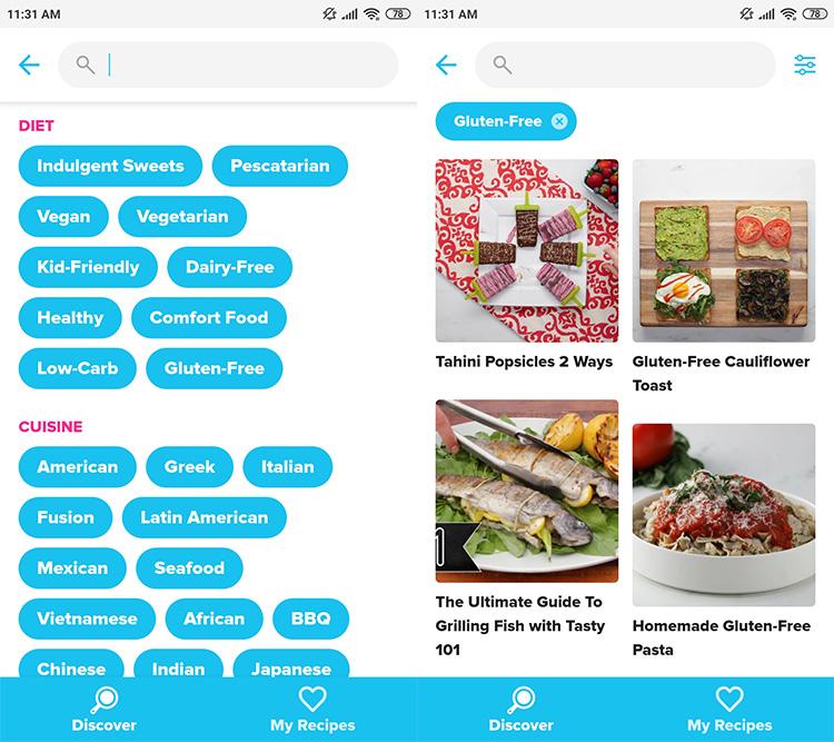 Tasty App Gluten Free