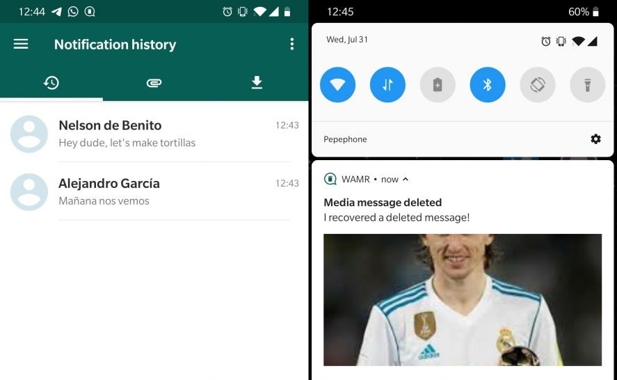 wamr app screenshot How to download WhatsApp statuses