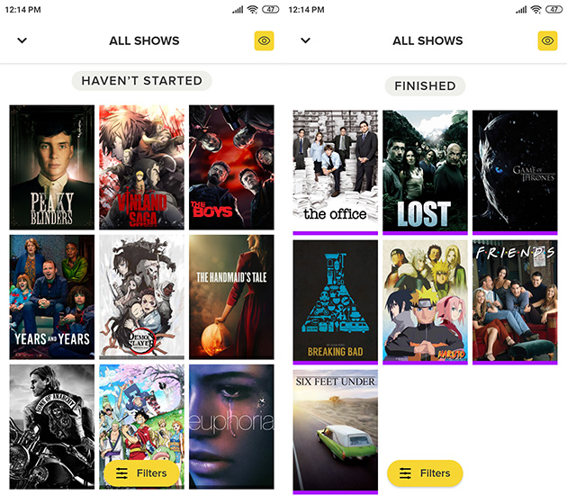 tvshowtime 2 Organize all your shows with TV Time