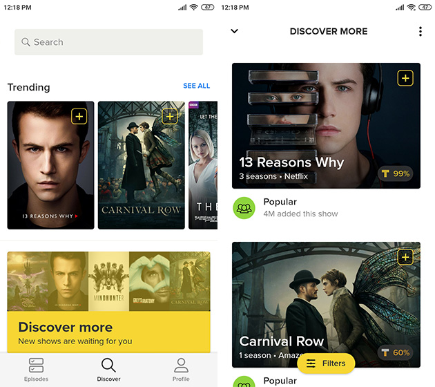 tvshowtime 5 Organize all your shows with TV Time