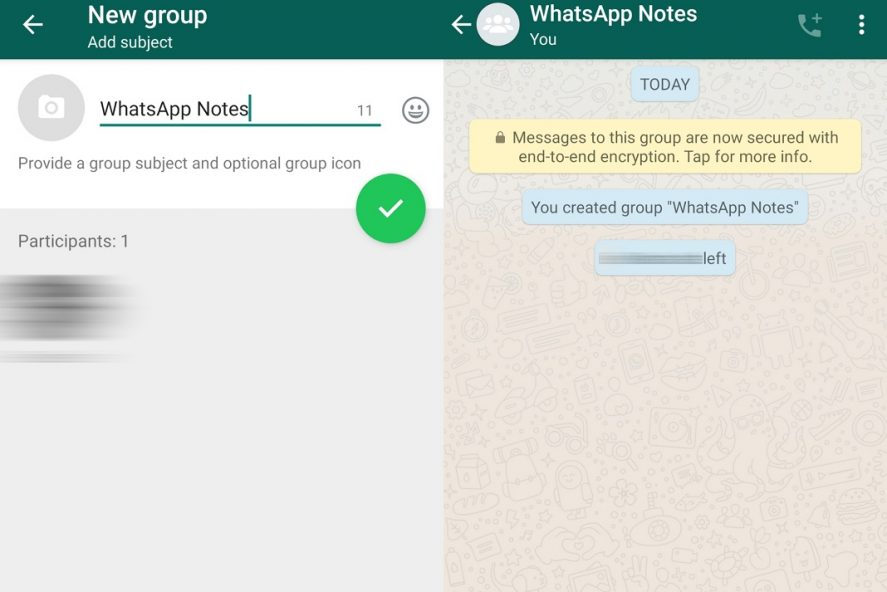 whatsappnotes2EN How to use a notepad in WhatsApp