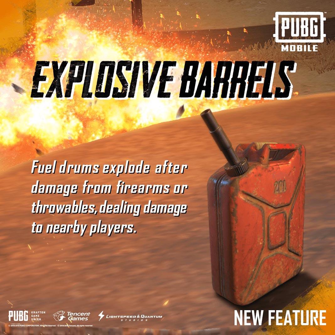 PUBG Mobile Explosive Barrels