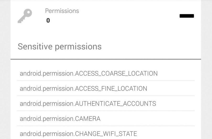 Uptodown app permissions