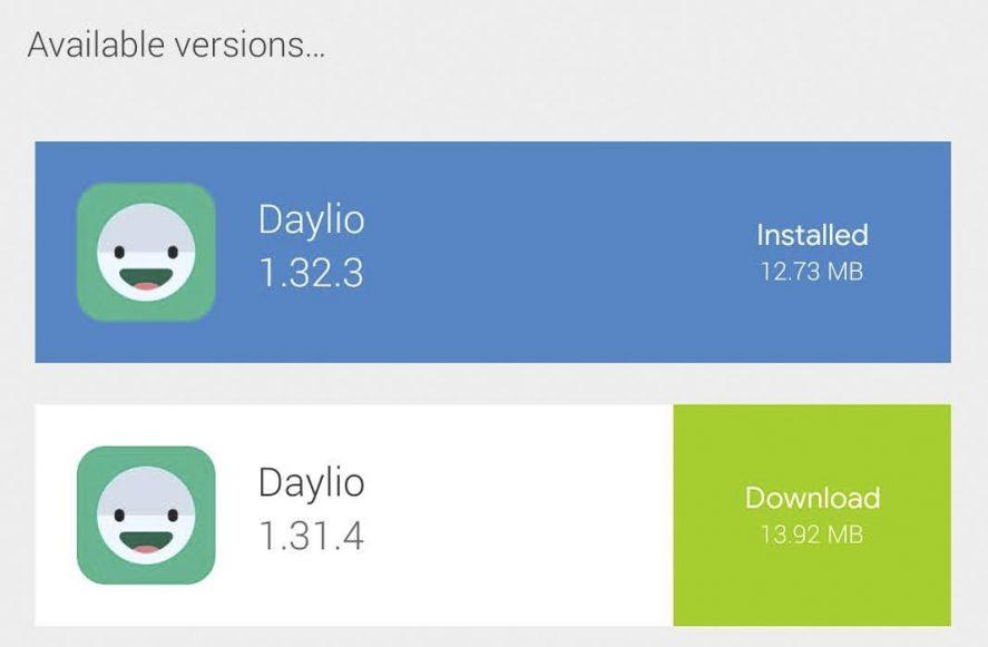 Uptodown app rollback