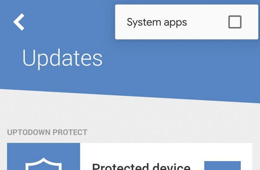 Uptodown Update System apps