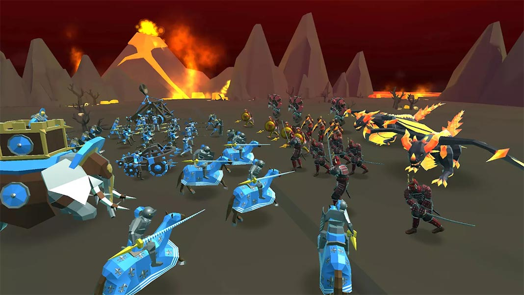 Epic Battle Simulator 2 lava terrain
